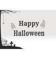 poster concept design for halloween card vector image vector image