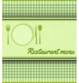 restaurant green template vector image vector image