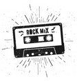 retro grunge style music audio tape cassette vector image vector image