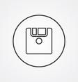 save outline symbol dark on white background logo vector image