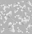 seamless contour floral pattern monochrome floral vector image vector image