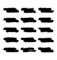 set black brushstroke paint vector image