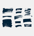 set hand drawn paint brush strokes and stains vector image vector image