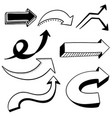 set of various 3d arrow elements vector image vector image
