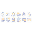set science icons such as no alcohol vector image vector image