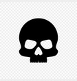silhouette black skull isolated background vector image