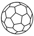 soccer ball outline vector image vector image