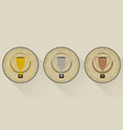 sport trophy icons in retro style for the first vector image vector image