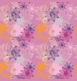 stylized flowers on a pink background seamless vector image vector image