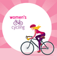 Woman in Protective Sportswear Cycling Road Bicycl vector image vector image