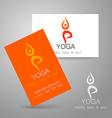 yoga logo card vector image vector image