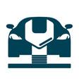 car workshop symbol vector image