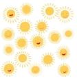 Sun smile symbols vector image