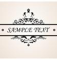Calligraphic design vector image