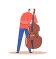 artist male character playing contrabass music vector image