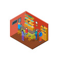bar drinking interior with furniture isometric vector image vector image