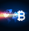 bitcoins digital currency technology background vector image