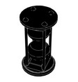 black hourglass on white vector image vector image