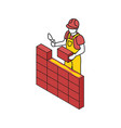 building brick wall composition vector image vector image