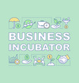 business incubator word concepts banner vector image vector image
