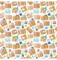 Carrying boxes seamless pattern warehouse shipping vector image