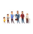 character of man in different ages child teenager vector image