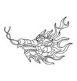 chinese dragon head vector image vector image
