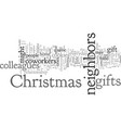 christmas gifts for coworkers and neighbors vector image vector image