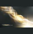 digital a dna molecule vector image