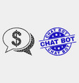 dot financial chat messages icon and vector image vector image