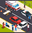 emergency team isometric composition