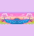 fantasy landscape with river vector image vector image