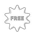 freebies sticker line icon vector image vector image