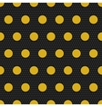 Gold polka dots seamless pattern vector image