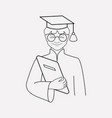 graduate icon line element of vector image vector image