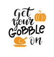 handdrawn thanksgiving label with pumpkin pie and vector image vector image