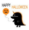 happy halloween black silhouette monster vector image