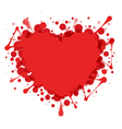 Heart-shaped splash isolated on white vector image