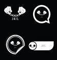 jail icon black and white vector image vector image