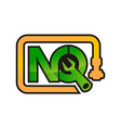 letter nq pipe repair vector image