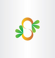 letter s plant with green leafs vector image vector image