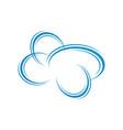 modern creative cloud logo design icon vector image vector image