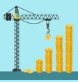 money towers build construction crane concept vector image vector image