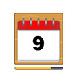 On the ninth day in the calendar vector image vector image