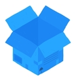 Open blue isometric carton package box vector image