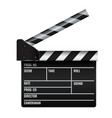 opened realistic cinema or film clapper vector image vector image