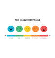 pain scale useful method assessing medical vector image vector image