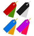 pair of tags labels hanging price tags price vector image