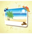 Picture of the sand beach landscape with palm vector image