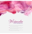 Pink watercolor blots pattern top frame vector image vector image